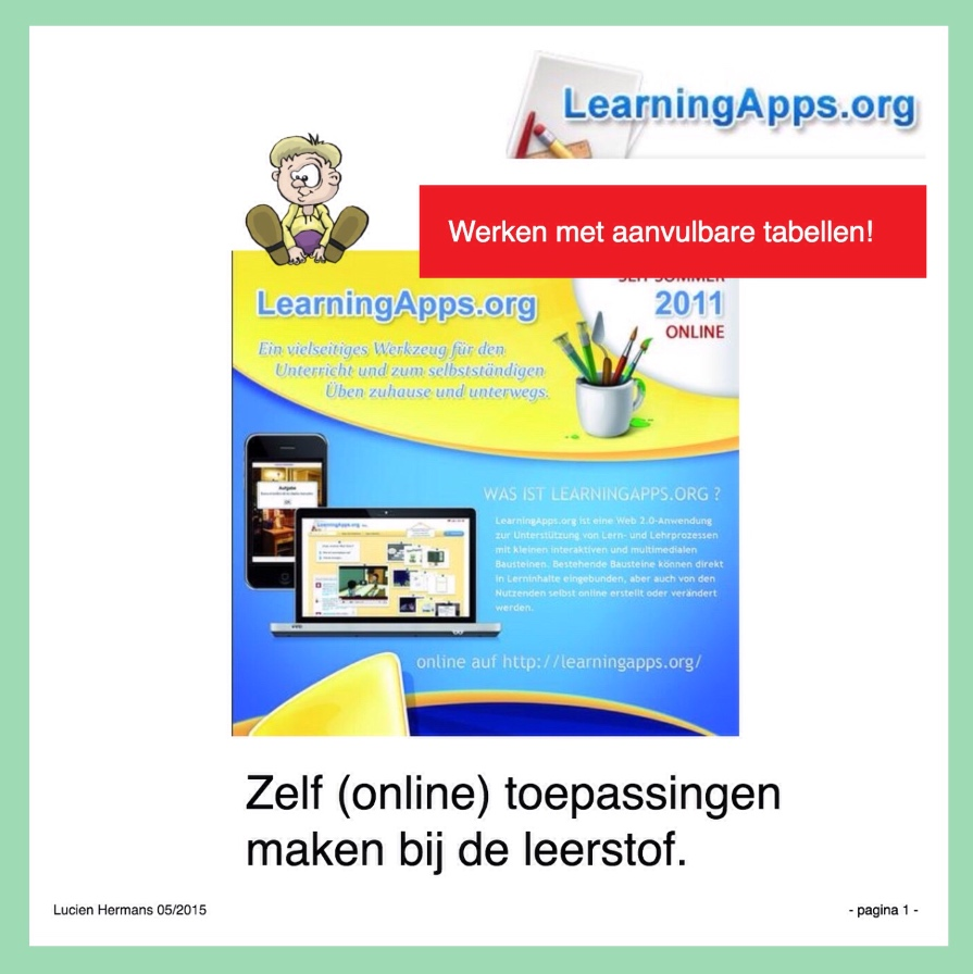 LearningApps tabellen kaft